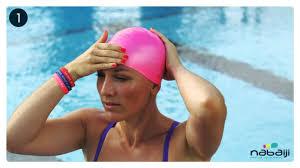 how to put your swim cap