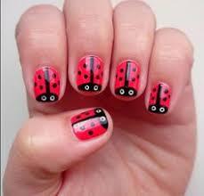 imagenes de uñas pintadas pequeñas modelos de uñas pintadas sencillas de mariquitas uñas decoradas