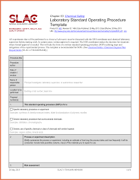 standard operating procedure template bio example