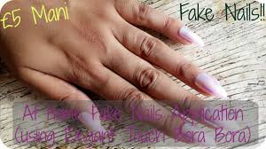 at home fake nails application elegant touch missmeerapatel