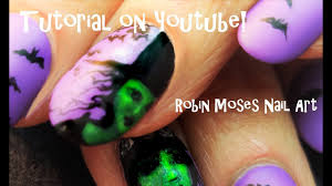 how to paint a witches face on nails halloween nail art design