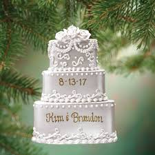 personalized wedding christmas ornaments personalized wedding cake ornament christmas kimball