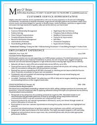 Resume Format For Bpo Jobs Experience by Resume For Customer Service Representative For Call Center