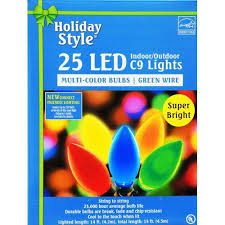 events led c9 lights 25 count