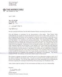 Business Letter Response To Complaint by Stop The Cap Texas Customer Goes To War With Time Warner Cable