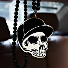 new york yankees ny cap skull badge hip hop pendant car styling