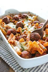 recipes with pasta meatball pasta bake the cooking jar