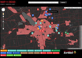 map of the dead map of the dead shows how to survive a apocalypse in