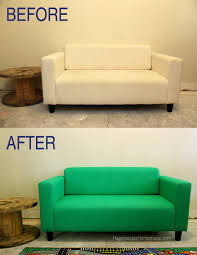 Vinyl Upholstery Spray Paint How To Easily Make Over A Sofa With Paint Happiness Is Homemade