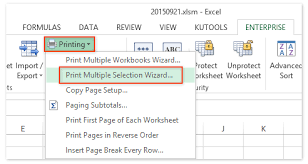 how to print multiple print areas on one page in excel