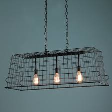 Wire A Chandelier Industrial Chic Wire Island Chandelier Large Shades Of Light