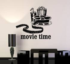 vinyl wall decal movies cinema film popcorn room decor stickers vinyl wall decal movies cinema film popcorn room decor stickers mural ig3342