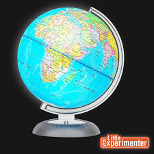 globe amazon com illuminated world globe for kids with stand built in