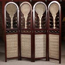 modern monumental woven wooden room divider design come with