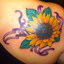 colorful sunflower tattoo design tattoos pinterest colorful