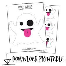 emoji ghost banner cricut template printable awesome