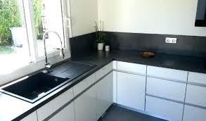 cuisine noir laqué plan de travail bois cuisine noir plan de travail bois cuisine plan travail bois
