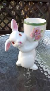 bunny egg cup ceramic bunny egg cup vintage avon easter bunny cup glass bunny