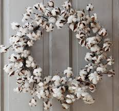 26 inch large cotton wreath cotton wreath front door