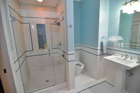 bathroom subway tile designs bathroom with wainscoting subway tile four over one design apch