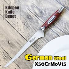 high carbon kitchen knives sedge 7 inch fillet knife kitchen boning blade high carbon german