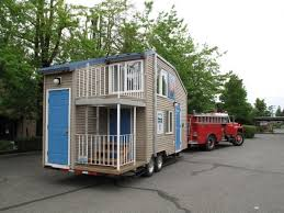 fire safety tiny house on a trailer like this tiny house has two
