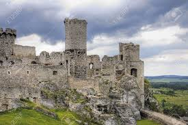 the old castle ruins of ogrodzieniec fortifications poland