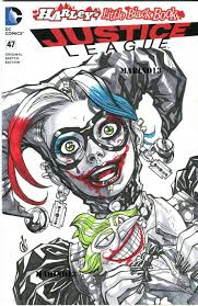 more original art harley quinn cover inserts from joe mad j