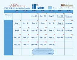 hebrew calendars hebrew israelite calendar 2018 2019 kingdom preppers