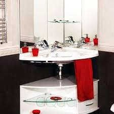 corner bathroom sinks creating space saving modern bathroom design