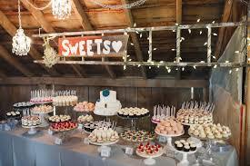 beautiful bridal rustic dessert table ideas