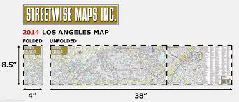 Map Of City Of Los Angeles by Streetwise Los Angeles Map Laminated City Center Street Map Of