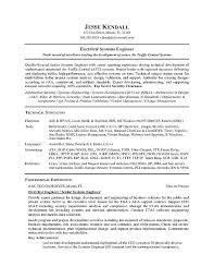 Security Engineer Resume Electrical Resume Sample Electrical Engineer Resume Sample