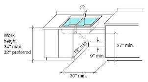 ada kitchen sink requirements ada kitchen sink kitchen sink sink cabinet dimensions to pin on