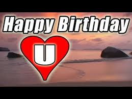 happy birthday e card video song romantic bolero beach sunset to