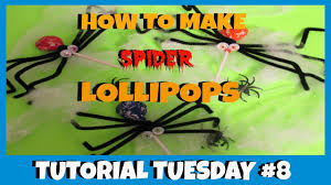 how to make spider lollipops diy halloween tutorial tuesday