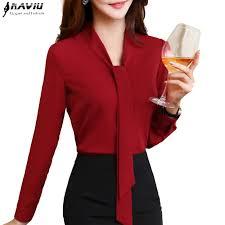 formal blouse naviu 2017 fashion chiffon blouses office