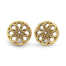 gold earring studs designs simple golden earrings for indian b gold rings b designs