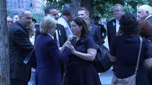 hillary clinton leaves 9 11 memorial early after feeling