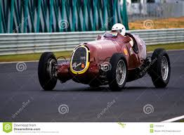 vintage alfa romeo race cars historic 1935 alfa romeo racing car at speed editorial stock image