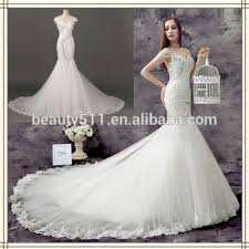 wedding gown design new design embroidered shoulder cap sleeve mermaid