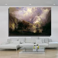 rocky oil painting promotion shop for promotional rocky oil qk art frameless rocky mountain landscape oil painting canvas wall pictures for living room poster home decor posters and print