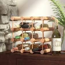 loon peak arvon 12 bottle floor wine rack u0026 reviews wayfair