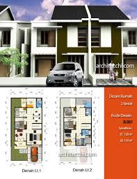 desain rumah 2 lantai 2l001 desain rumah dengan konsep