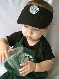 clever infant halloween costumes baby barista starbucks pinterest babies