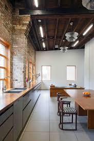architecture studio hosue design wooden dining table rustic brick