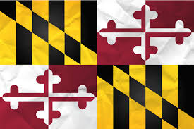 Flags Us Flag Of Maryland With Paper Texture Download It For Free