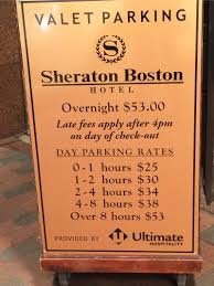 Boston Parking Map by Sheraton Parking In Boston Parkme