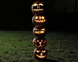 halloween lights at walmart how to make a pumpkin totem pole for halloween how tos diy