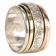 spinner ring meditation spinner ring harmony fidget anxiety worry israel size 7